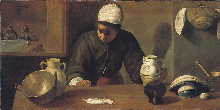 Kitchen Maid with the Supper at Emmaus (c. 1617–18), Diego Velázquez.