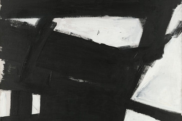 Wanamaker Block (detail; 1955), Franz Kline. Yale University Art Gallery.