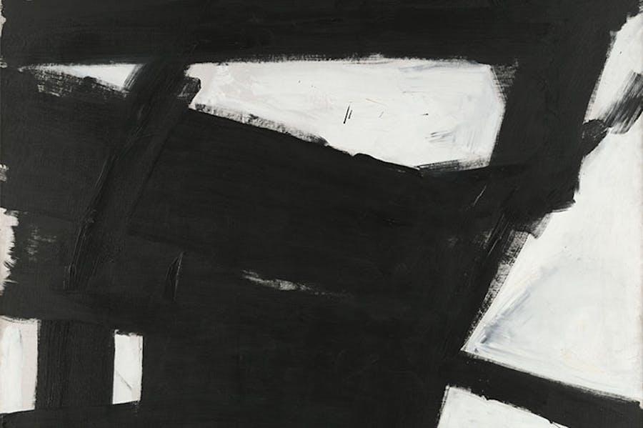 Wanamaker Block (detail; 1955), Franz Kline. Yale University Art Gallery.