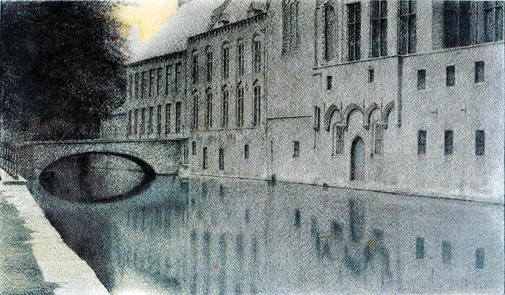 Memory of Flanders. A Canal (1904), Fernand Khnopff