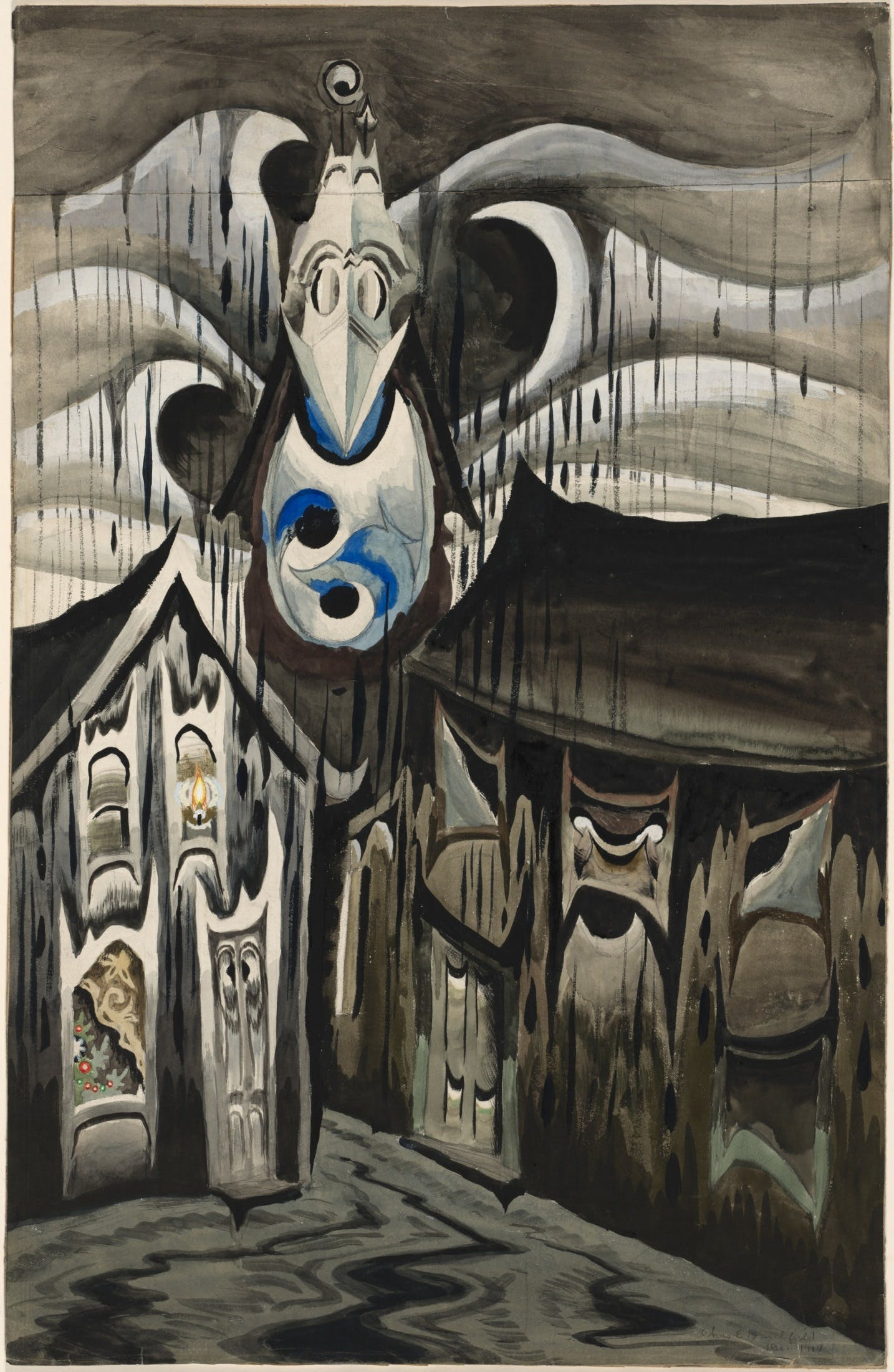 Bells Ringing, Rainy Winter Night, Charles Burchfield