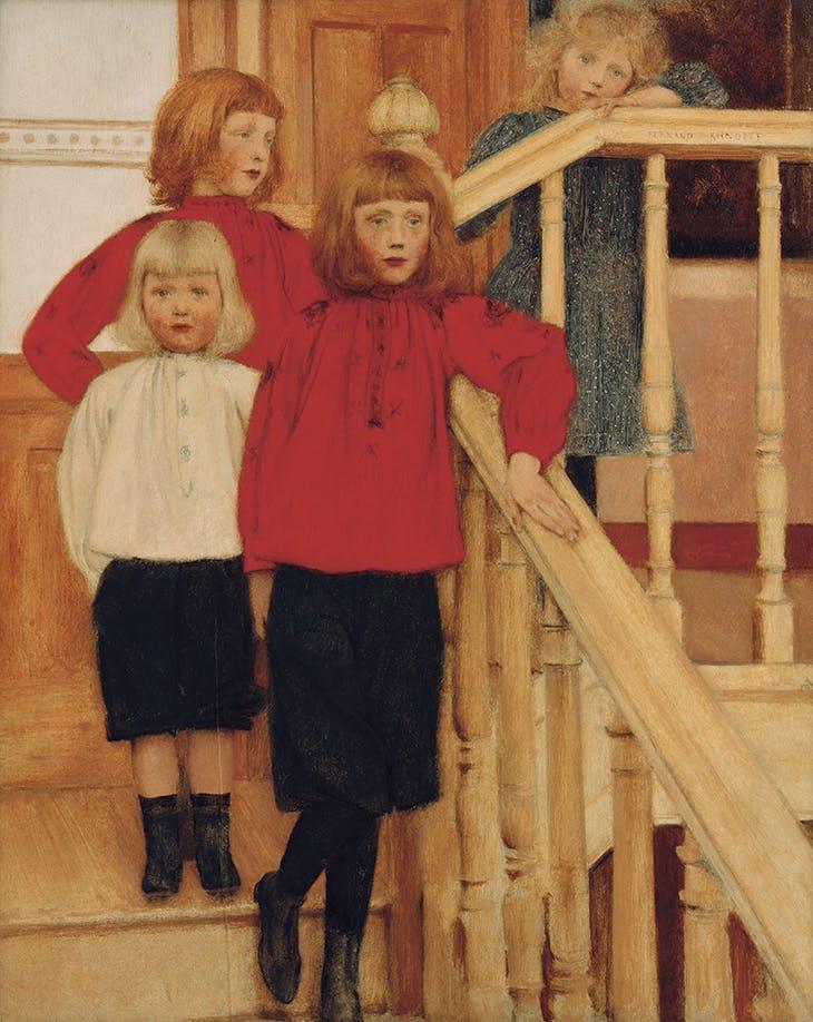 Portrait of the Children of Monsieur Nève (1893), Fernand Khnopff