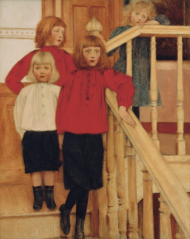 Portrait of the Children of Monsieur Nève (1893), Fernand Khnopff
