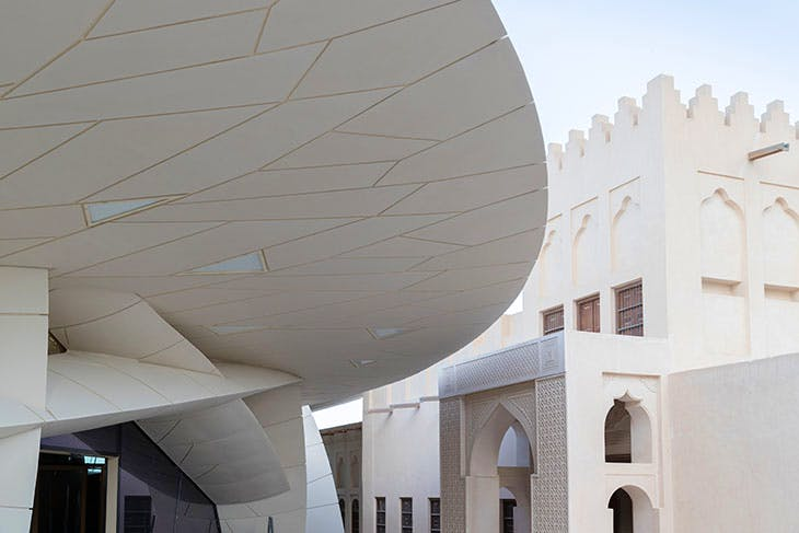 View of the upcoming National Museum of Qatar designed by Atelier Jean Nouvel.