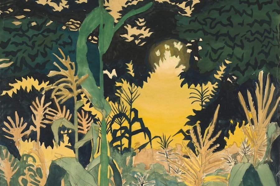 Late August Sunset, Charles Burchfield