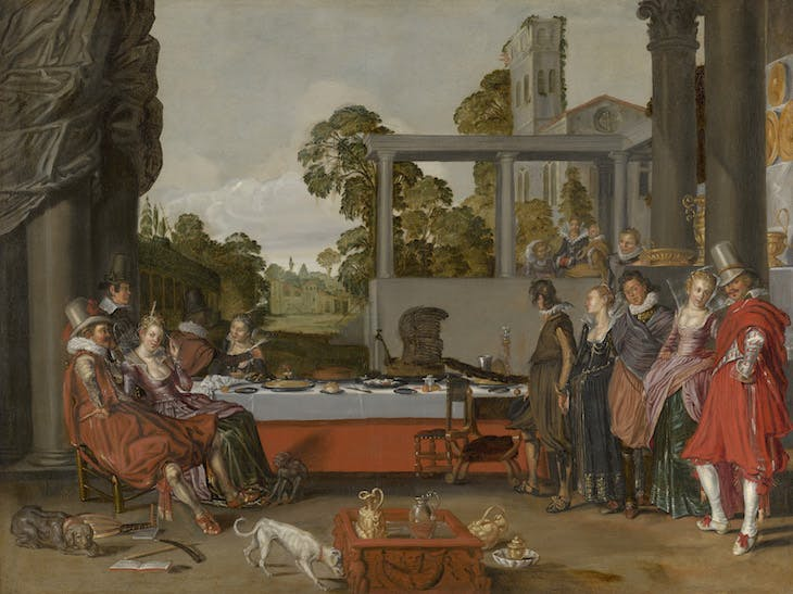 Merry Company on a Terrace (c. 1616–17), Willem Buytewech