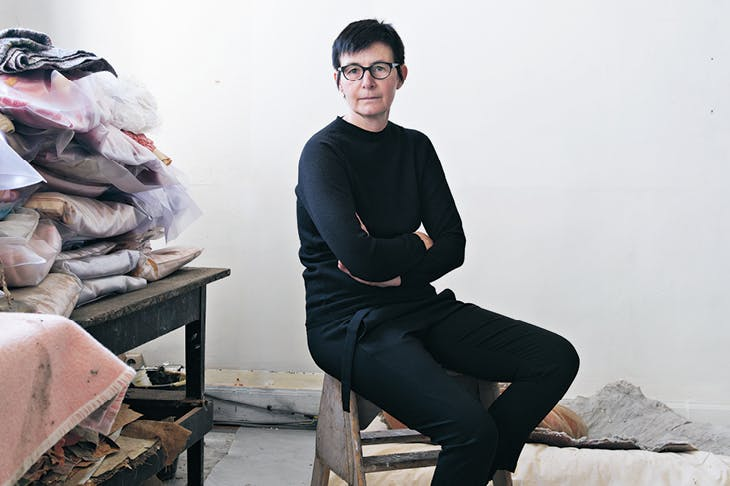 Berlinde De Bruyckere, photographed in her studio in Ghent in October 2018.