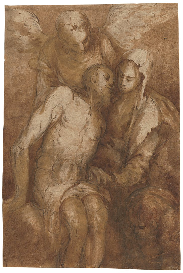 Pietà (c. 1570), attributed to El Greco. National Gallery of Art, Washington, D.C.
