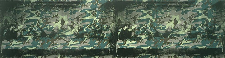 Camouflage Last Supper (1986), Andy Warhol. Private collection.