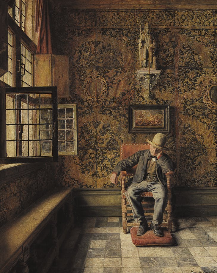 The Man in the Chair (1875), Henri De Braekeleer. Royal Museum of Fine Arts, Antwerp.