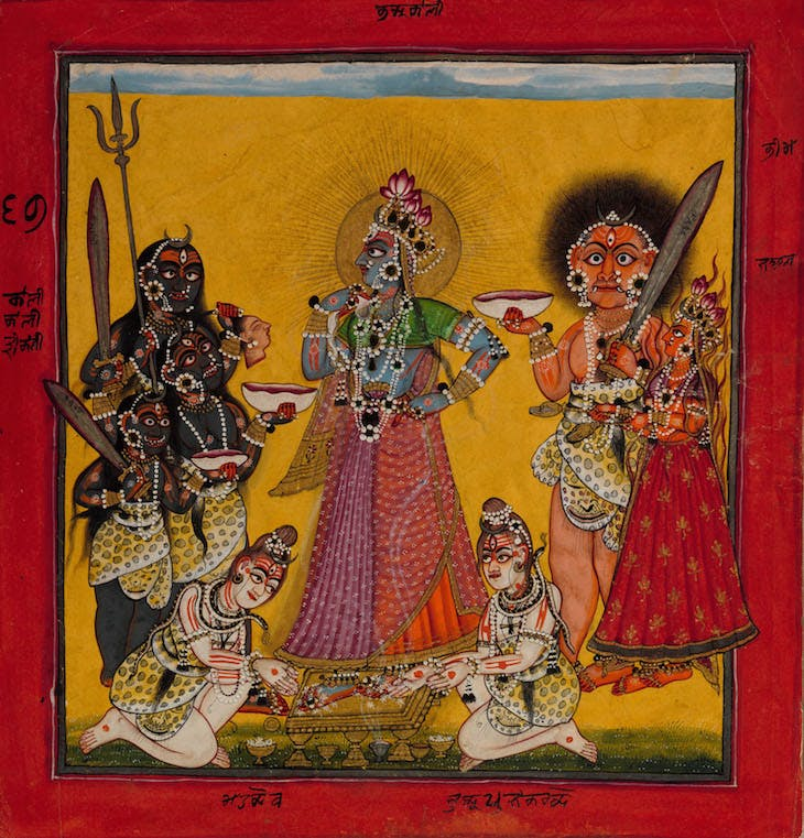 Devi in the Form of Bhadrakali Adored by the Gods