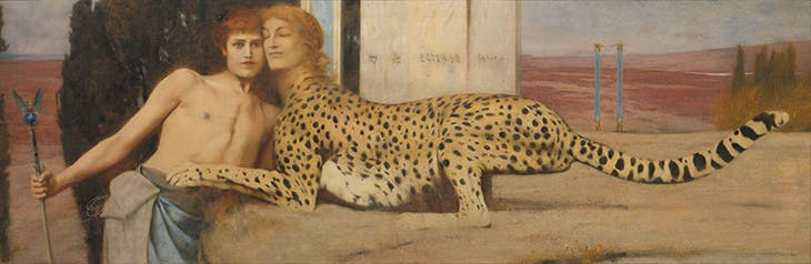 Caresses (1896), Fernand Khnopff. Royal Museums of Fine Arts of Belgium, Brussels.