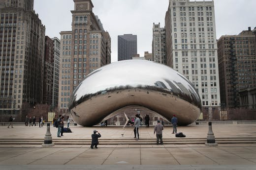 Cloud Gate (2006), Anish Kapoor.
