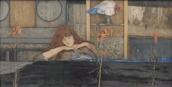 I Lock My Door Upon Myself (1891), Fernand Khnopff. Neue Pinakothek, Munich.