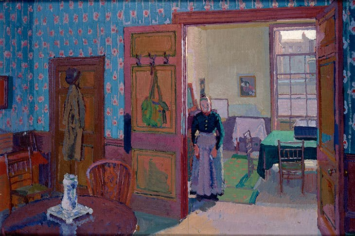 Interior with Mrs Mounter (1916–17), Harold Gilman.