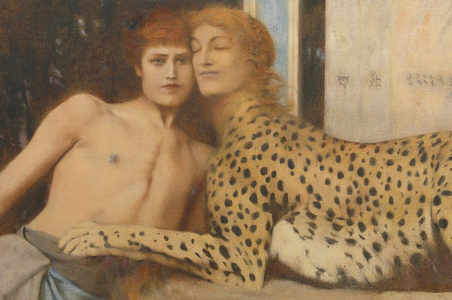 Caresses (detail; 1896), Fernand Khnopff. Royal Museums of Fine Arts of Belgium, Brussels. Photo: J. Geleyns Art Photography