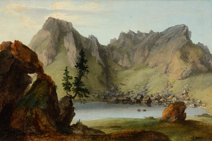 View across Lake Seeberg to the Muntigalm (1778), Caspar Wolf.