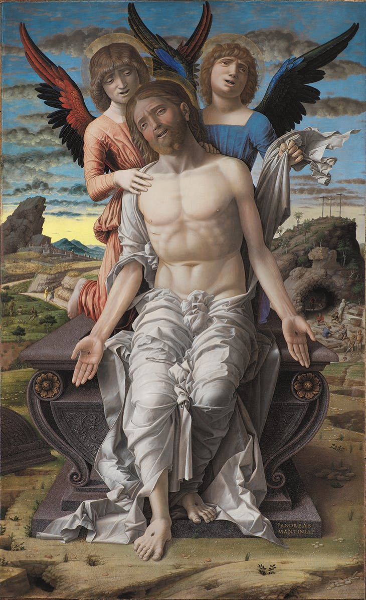 The Dead Christ Supported by Two Angels, Mantegna