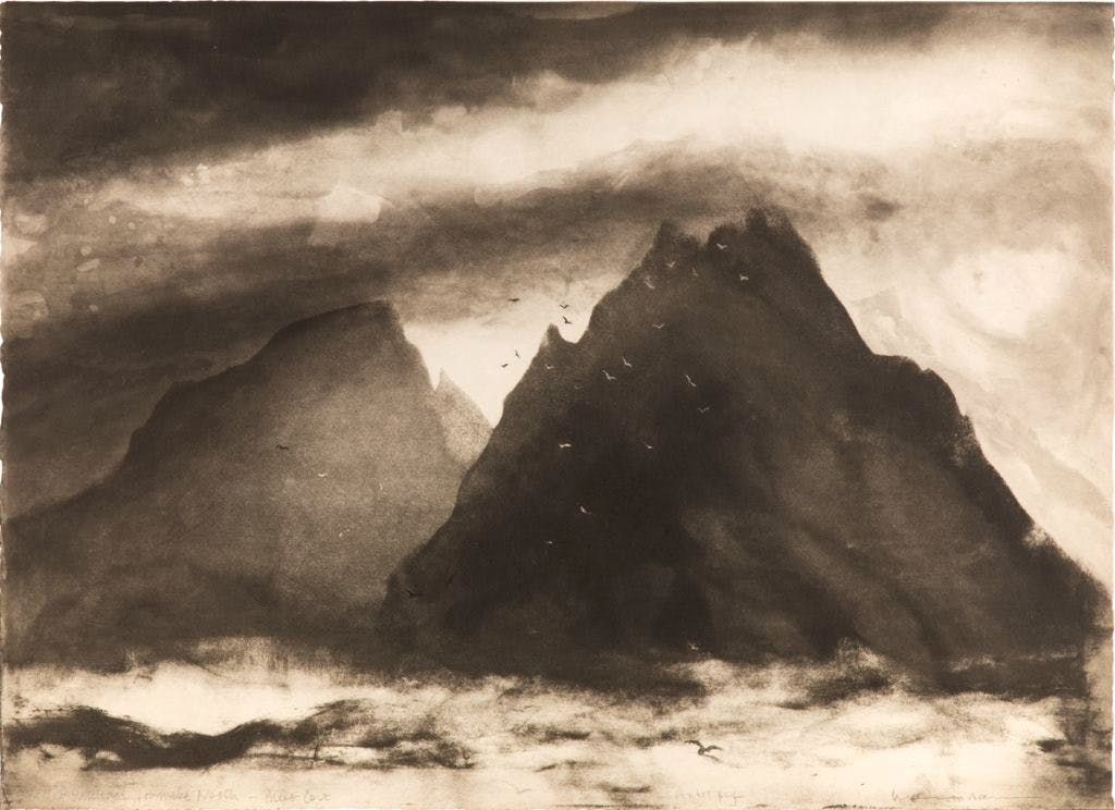 Skellig Michael from the North, Blue Cove (2003), Norman Ackroyd