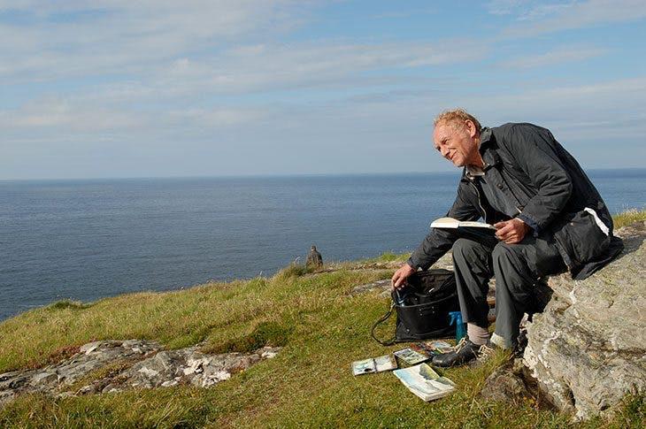 Norman Ackroyd on Malin Head