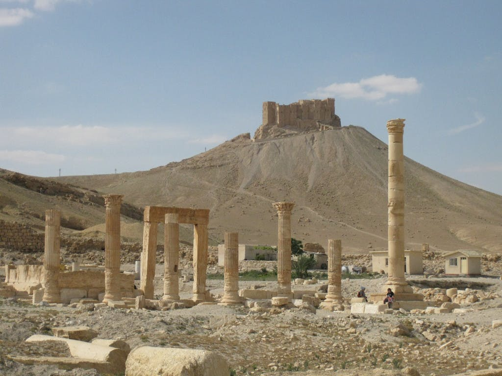 The Temple of Allat in Palmyra (where the Lion of Allat now in the Damascus museum came from.