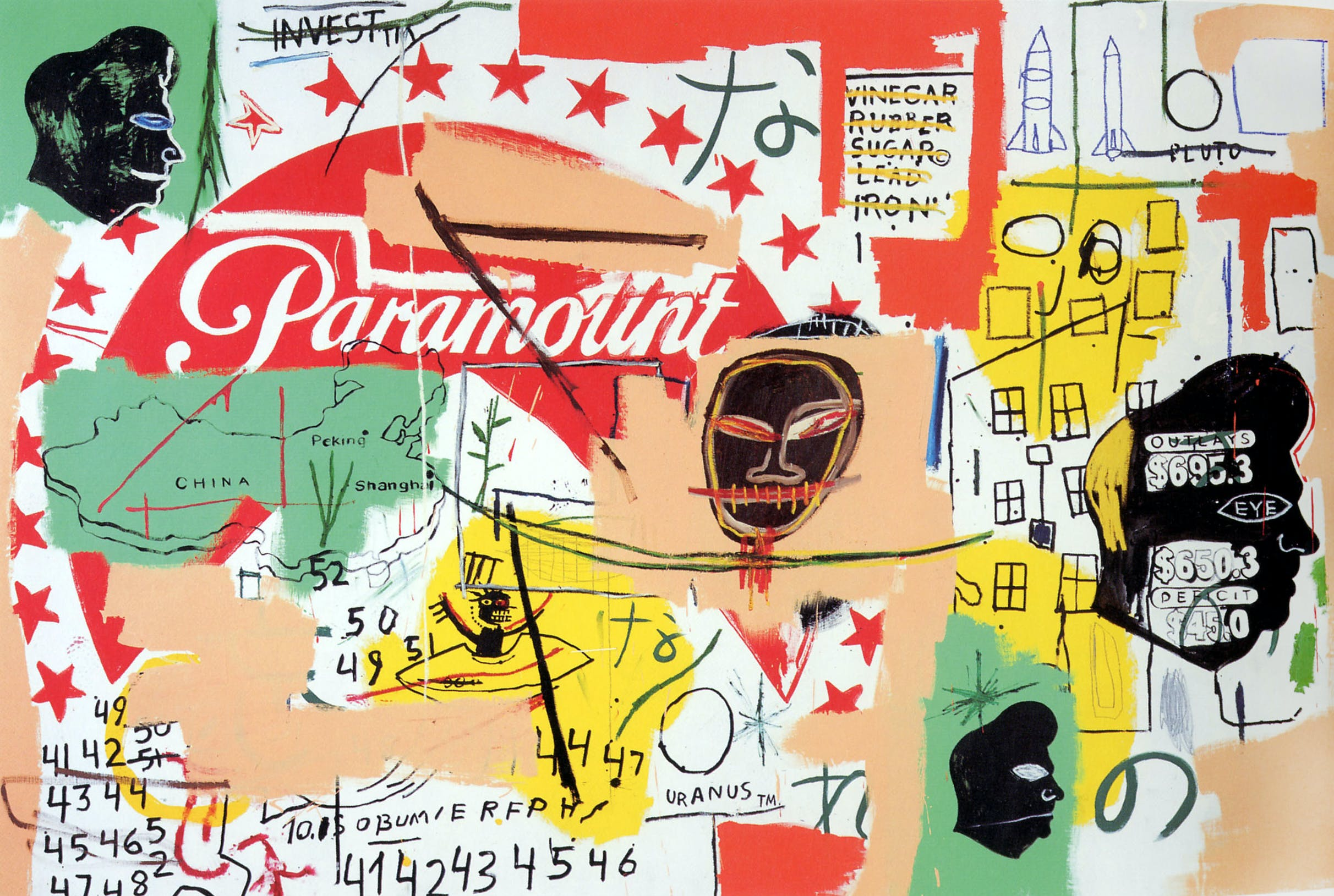 Paramount (1984–85), Jean-Michel Basquiat and Andy Warhol. Private collection.