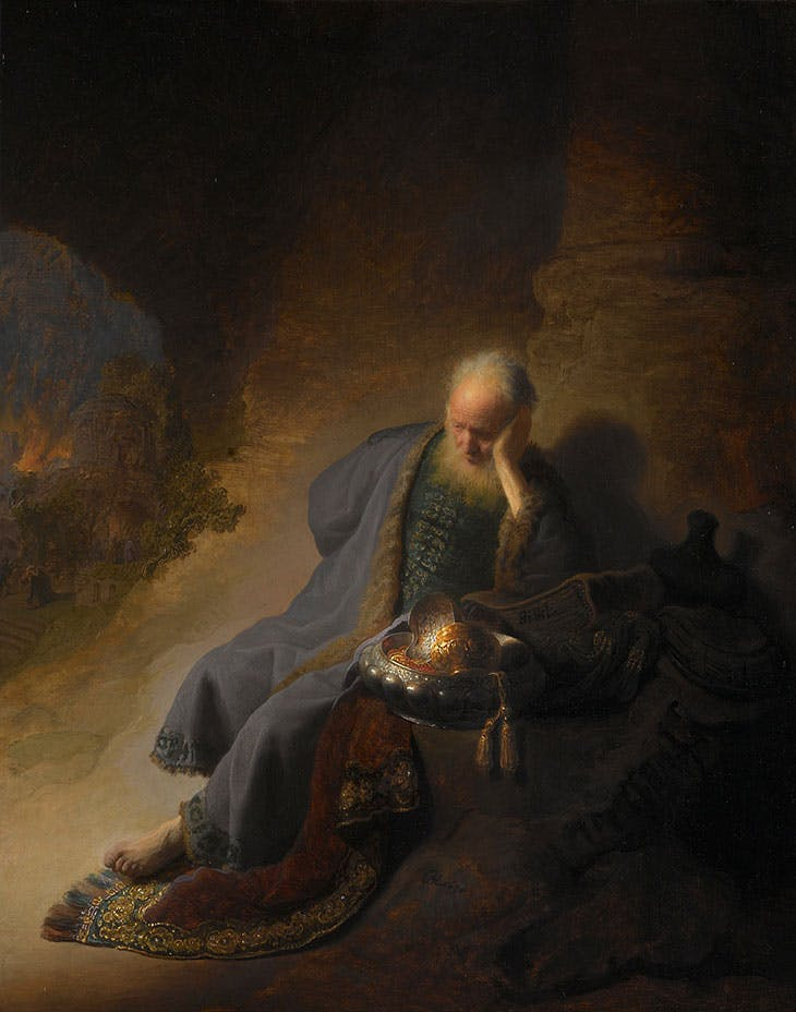 Jeremiah Lamenting the Destruction of Jerusalem (1630), Rembrandt van Rijn. Rijksmuseum, Amsterdam