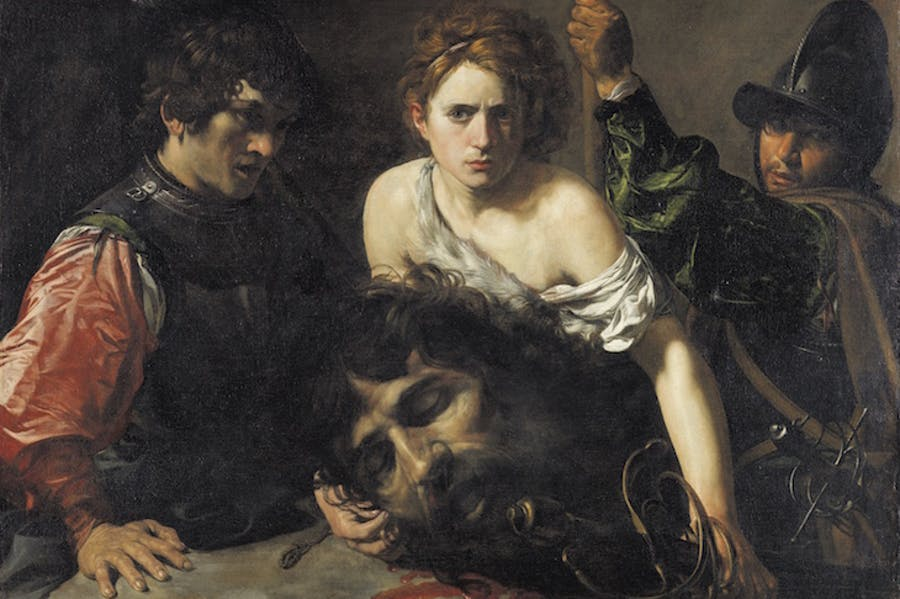 David with the Head of Goliath and Two Soldiers