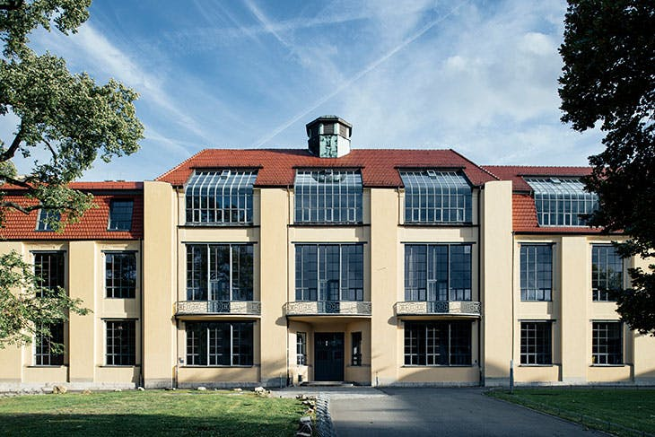 The main building of the Bauhaus School in Weimar.