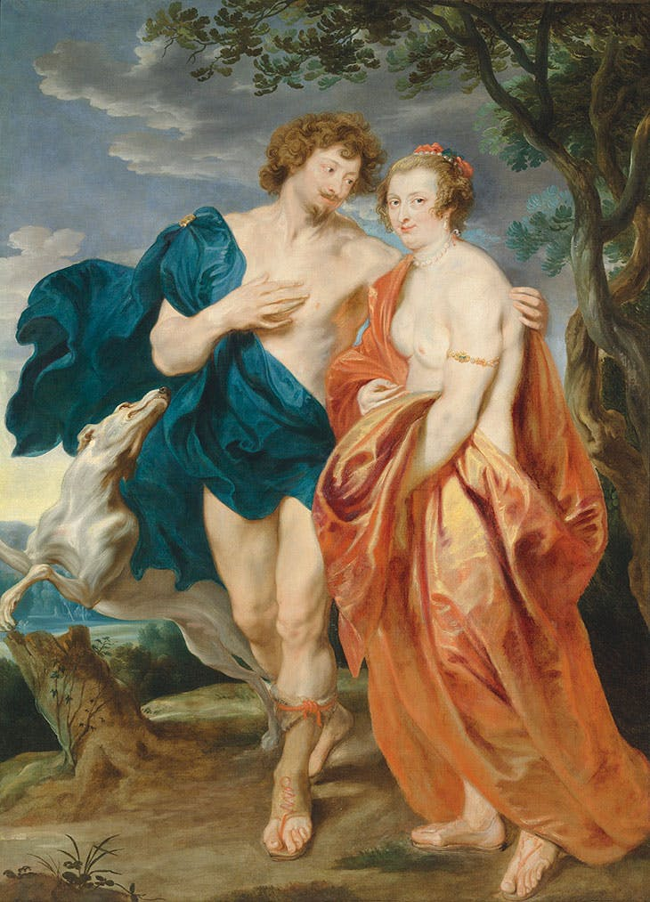 Double portrait of George Villiers, Marquess and later 1st Duke of Buckingham (1592–1628) and his wife, Katherine Manners (1603–1649), as Venus and Adonis (1620–21), Anthony van Dyck. Estimate £2.5m–£3.5m