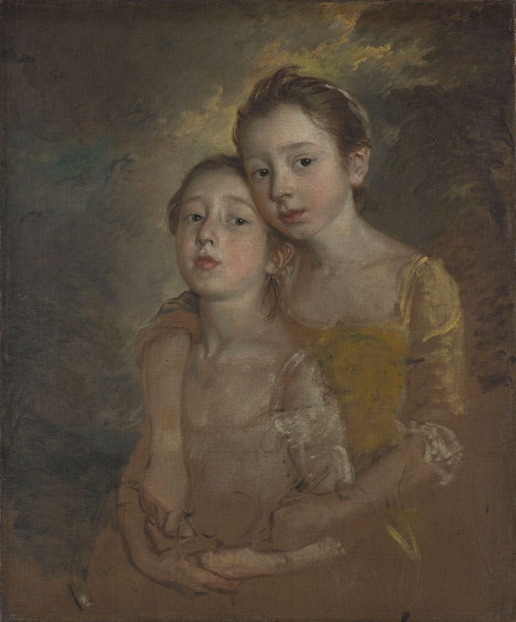 Mary and Margaret Gainsborough, the Artist's Daughters, Playing with a Cat (c. 1760–61), Thomas Gainsborough. National Gallery, London