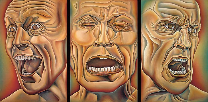 Three Faces of Man from 'Power Play' (1985), Judy Chicago, Palmer Museum of Art, Penn State University, Pennsylvania