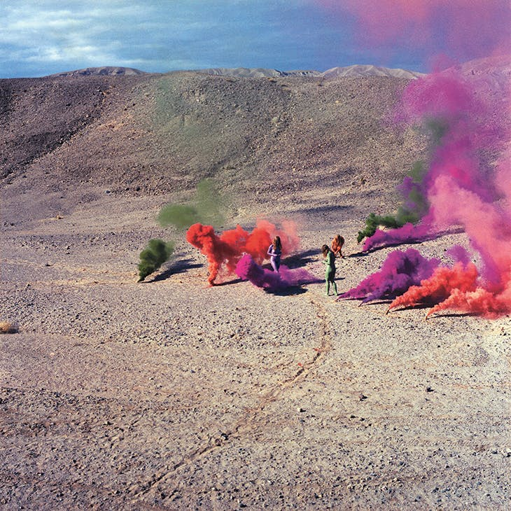 Smoke Bodies from 'Women and Smoke', photograph documenting performance in the California desert, (1972), Judy Chicago.