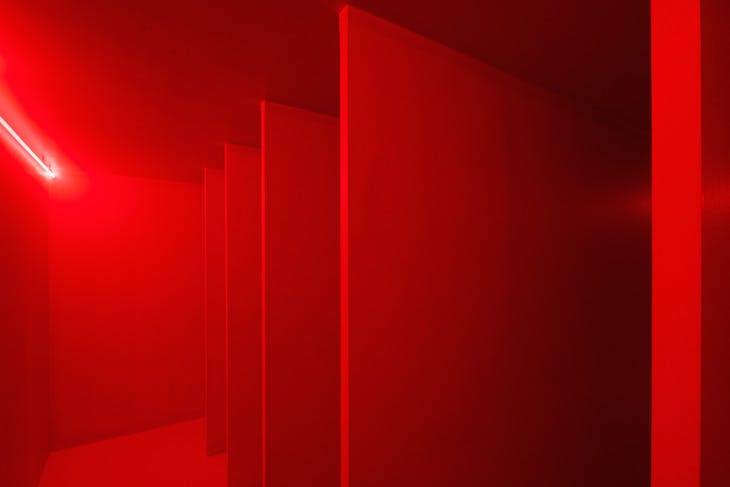 Spatial Environment in Red Light (1967/2019), Lucio Fontana.