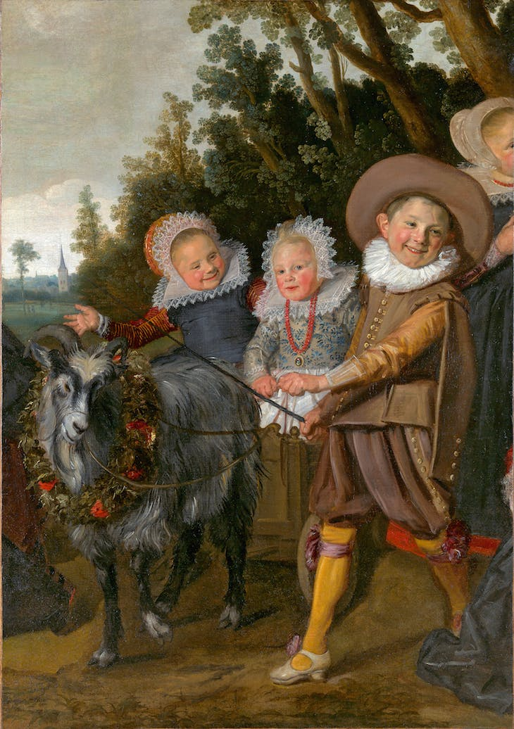 Children of the Van Campen Family with a Goat-Cart, Framn Hals