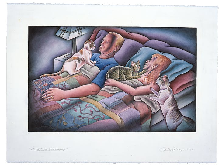 3AM: Wake Up We're Hungry from 'Kitty City' (2003), Judy Chicago