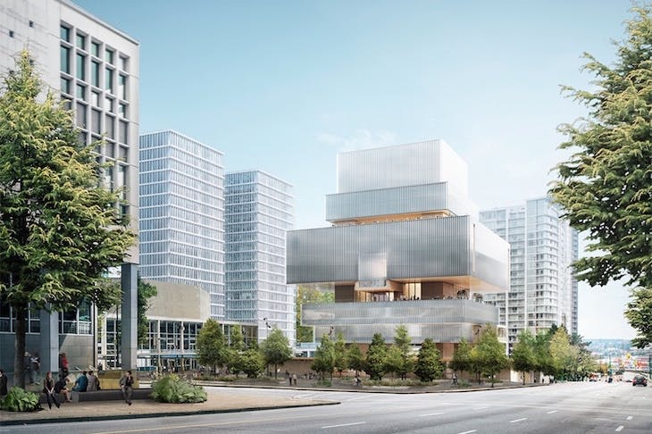 Architect's rendering of the new Vancouver Art Gallery building.