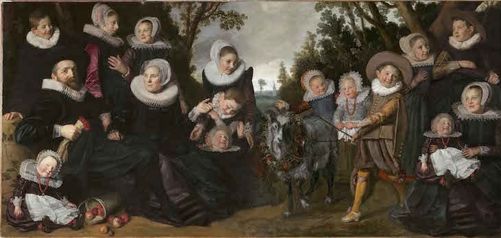 Proposed reconstruction of Frans Hals' complete The Van Campen Family in a Landscape