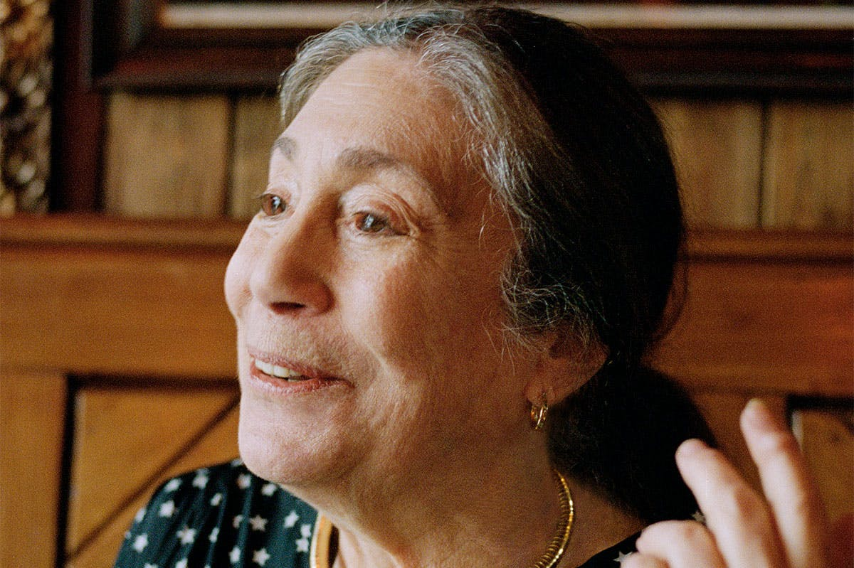 The artist Susan Hiller in 2014.