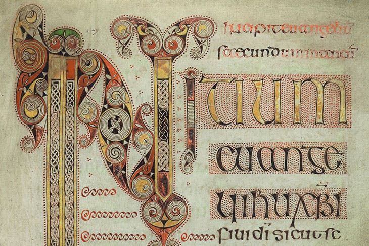 The Book of Durrow (detail; f. 86r) (c. 700), probably Durrow, Co. Offaly, or Iona. Trinity College Dublin