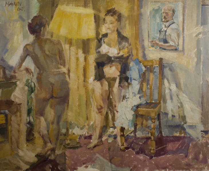 Self-Portrait with Double Nude, Cyril Mann