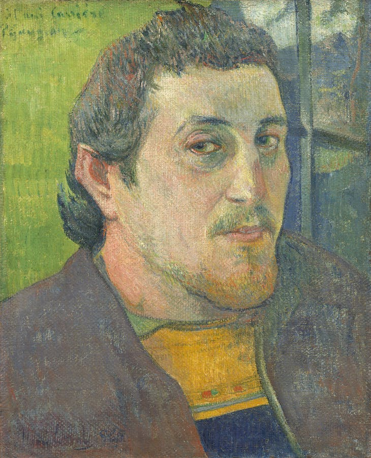 Self-Portrait Dedicated to Carrière, 1888 or 1889, Gauguin