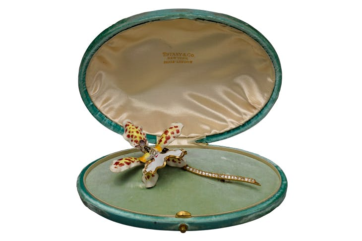 Orchid brooch (1889–96), designed by Paulding Farnman for Tiffany & Co. Metropolitan Museum of Art, New York