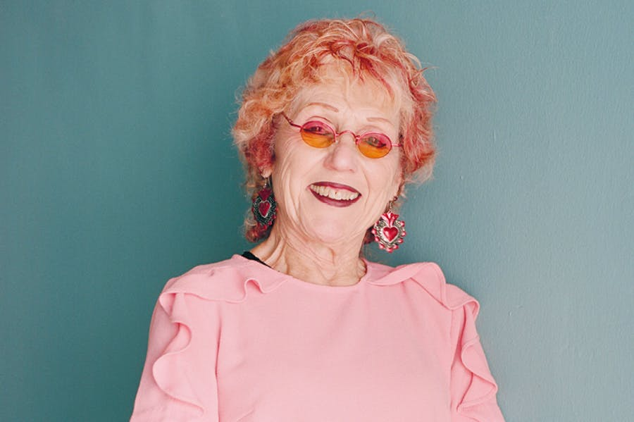 Judy Chicago photographed in Santa Monica in September 2018