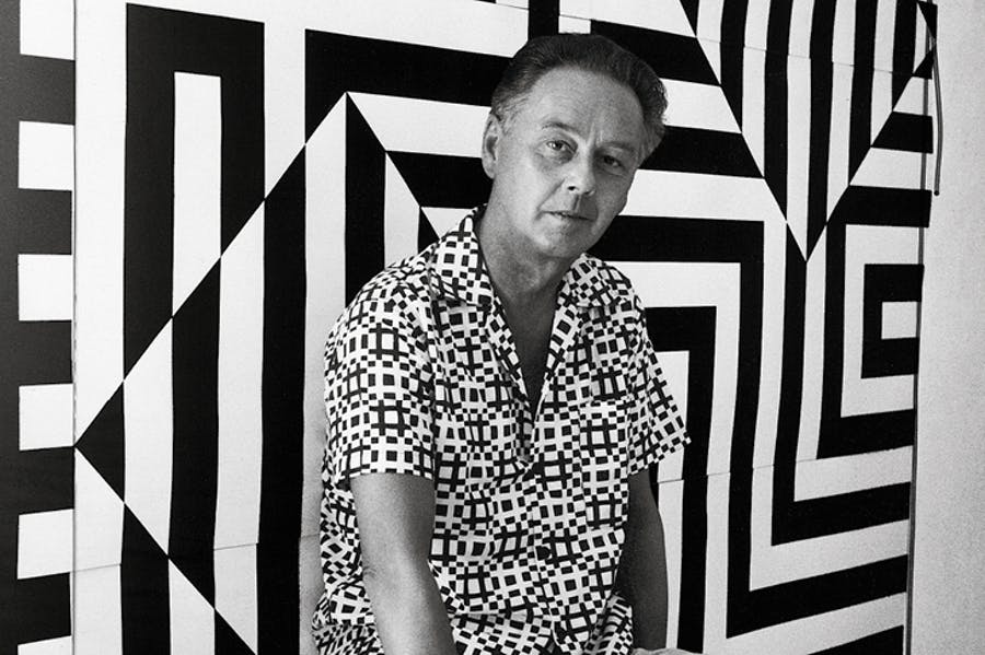 Victor Vasarely photographed in 1960