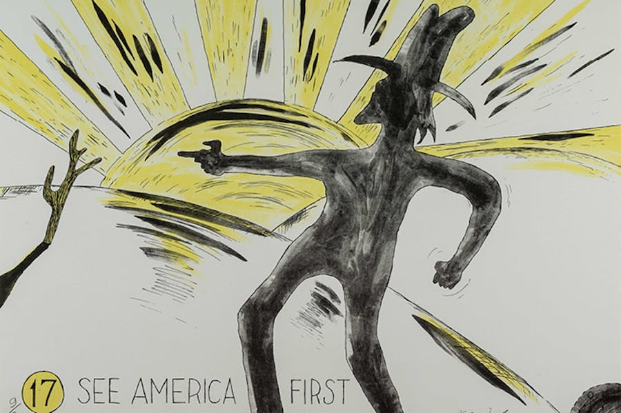 Untitled 2 from the series See America First (1968), H.C. Westermann, The David and Alfred Smart Museum of Art, The University of Chicago.