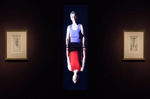 Installation view of 'Bill Viola/Michelangelo: Life Death Rebirth' at the Royal Academy of Arts, London, 2019.