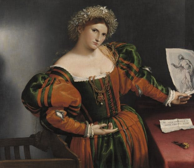 Portrait of a Woman inspired by Lucretia (c. 1530-33), Lorenzo Lotto. National Gallery, London.