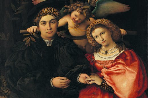 Portrait of Marsilio Cassotti and his wife Faustina (1523), Lorenzo Lotto