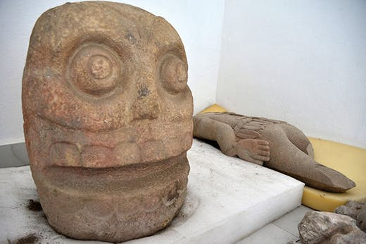 Stone carvings discovered in the Popoloca ruins in Puebla state, photo: Instituto Nacional de Antropología e Historia, Mexico